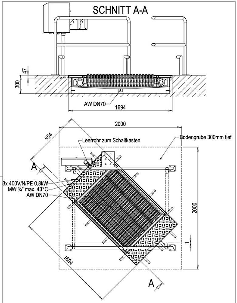 Zeichnung GHW-Räderreinigungsanlage
