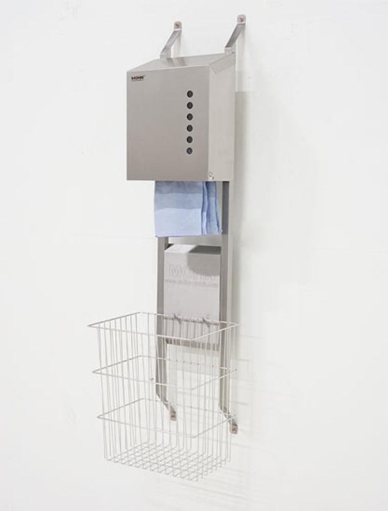 Dryrack mit Handtuchspender und Draht-Papierkorb 40 ltr.
