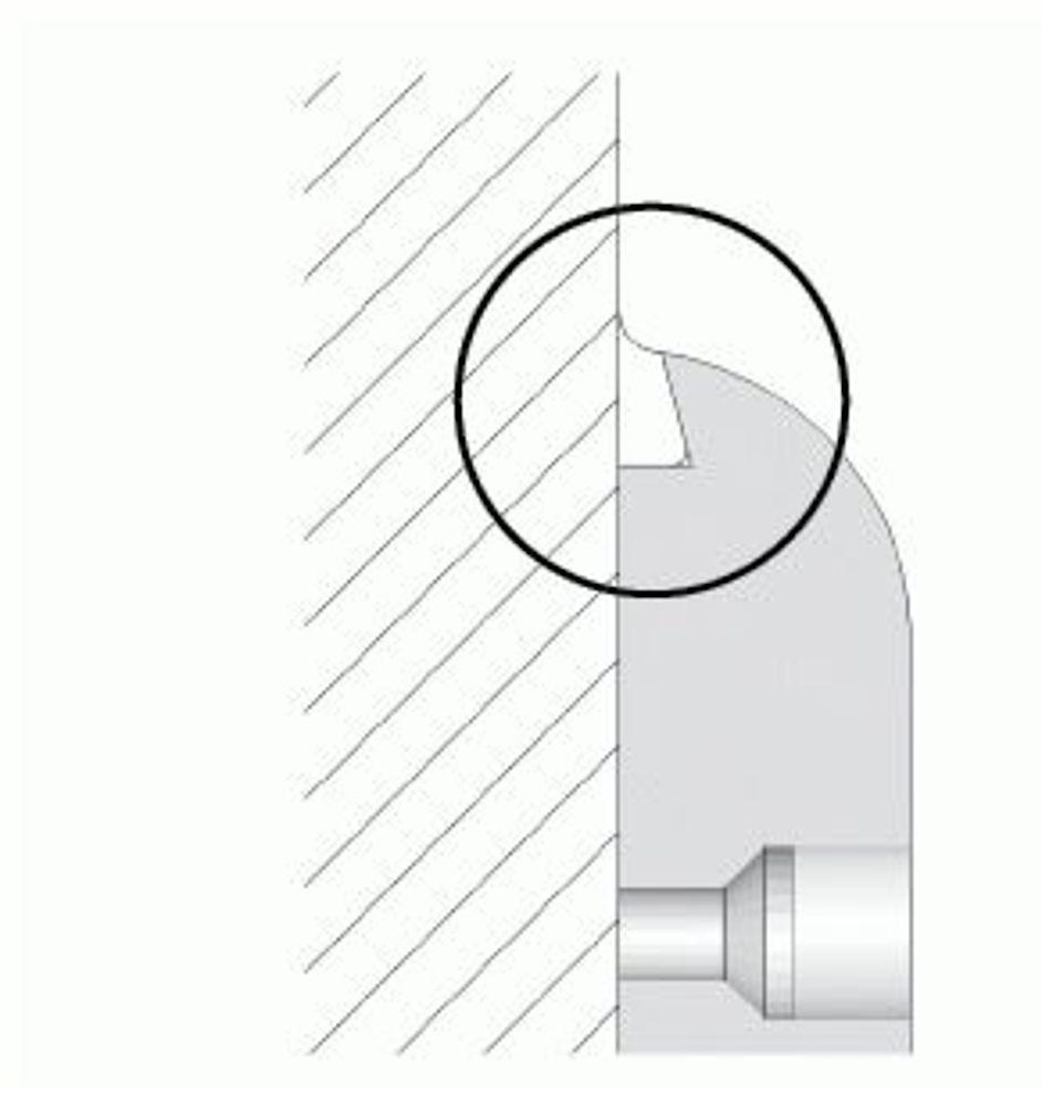 HDPE-Wandschutz mit Silikonfuge (OPTION)