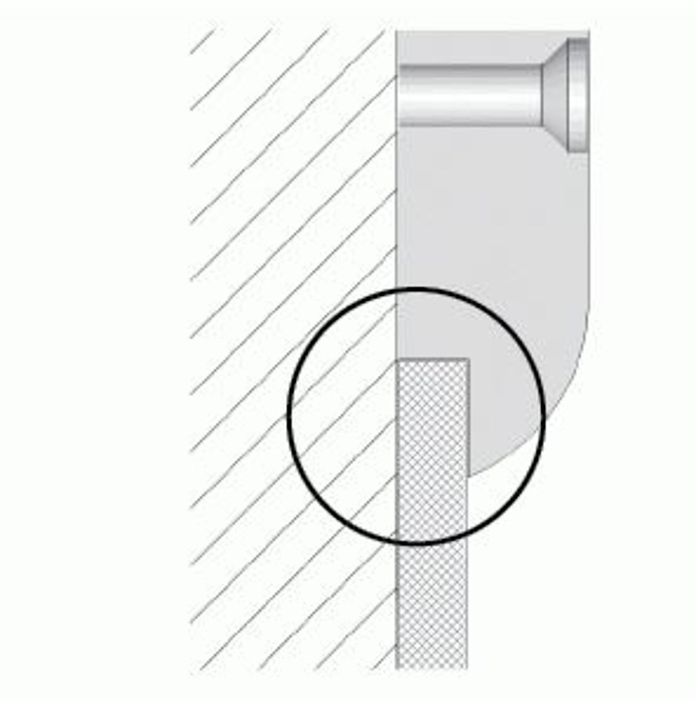 HDPE-Wandschutz mit Sockelaussparung (OPTION)