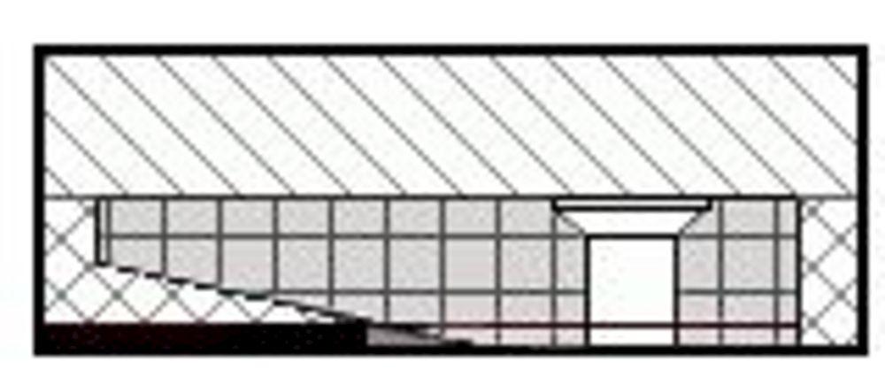 HDPE-Rammschutz mit unsichtbarer Befestigung mittels Klemmprofil