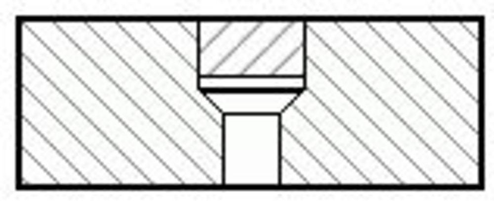 Sacklochbohrung mit Verschlussstopfen (nahezu unsichtbare Verschraubung)