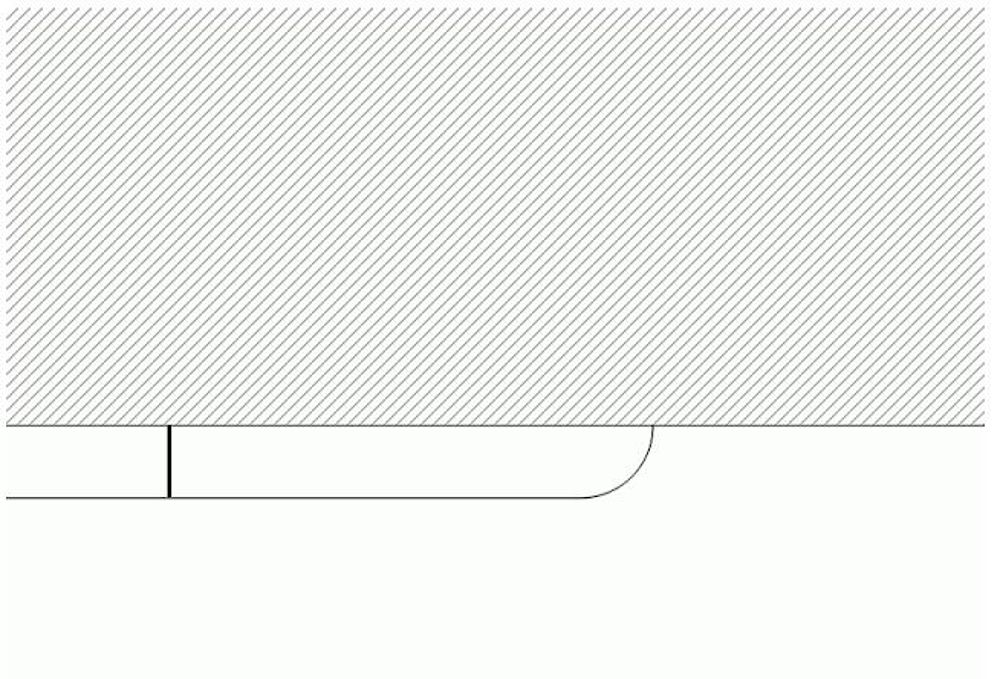 HDPE-Wandschutz mit Endabschluss