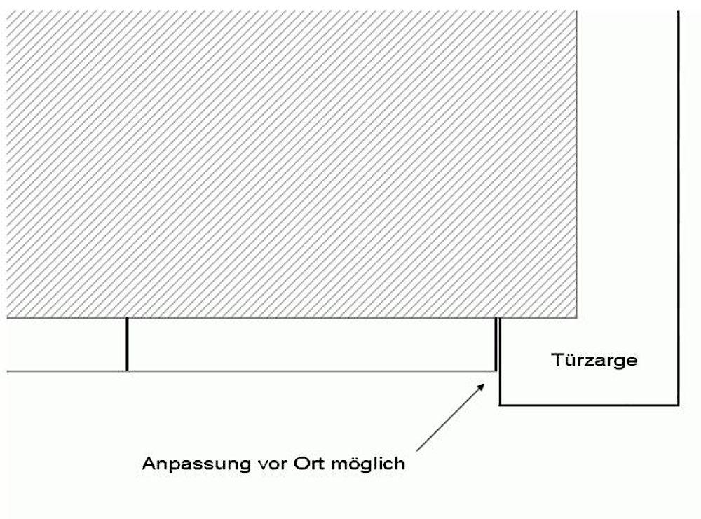 HDPE-Wandabschluss mit direktem Anschluss an Türzarge