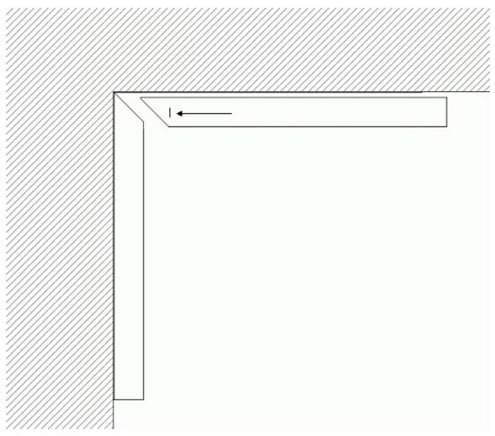 HDPE-Wandschutzecke mit Gehrung