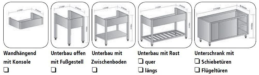 Spültischunterbauten