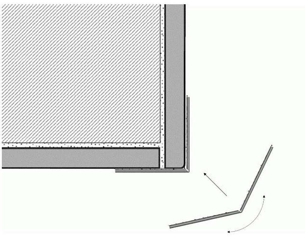 ACROLEN (Acryl-Vinyl) Wandschutz - Außenecke