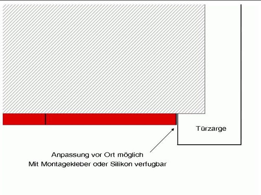 ACROLEN-WAndschutz-Endabschluss mit Anschluss an Zarge