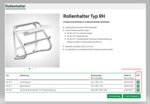 Produkt-Datenblatt Funktion - Webseite   Mohn GmbH