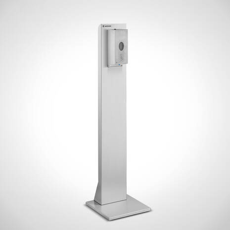 Touchless hand disinfection dispenser with stainless steel hygiene rack (sensor operation)