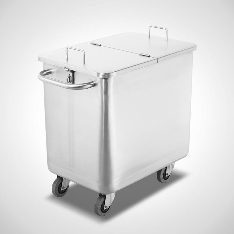 Behälterwagen Typ BW-170 ltr. mit 2-geteilt, klappbaren und abschließbaren Deckel