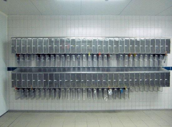 Messerkorb-Sicherungsschränke für 60 Mitarbeiter