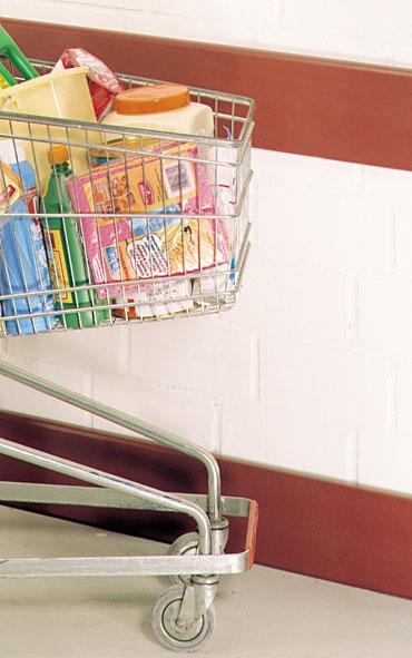 Rammschutzprofile für Supermärkte